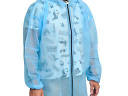 Одноразовый халат из нетканого материала на молнии