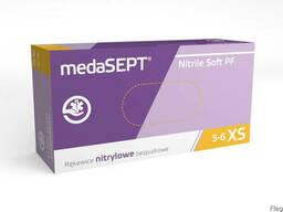 Одноразовые перчатки, medaSEPT Nitrile Soft PF, неопудренные