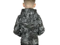 Однотонное худи для мальчика с начесом в расцветке камуфляж