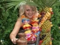 Оформление гавайской вечеринки,гавайские лейсы,декор