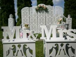 Оформление свадьбы, украшение зала, свадебный декор Днепр