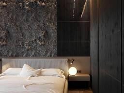 Оформлення стіни - імітація «Дикої Скелі» - оформлення інтер'єра