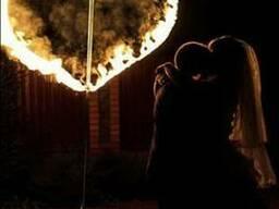 Огненное сердце, горящее сердце на свадьбу