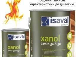 Огнестойкий лак по дереву Isaval Xanol (Испания) 2,5 л