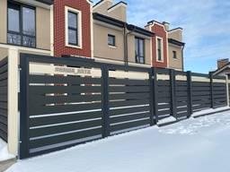 Огорожа Ранчо - сучасний металевій паркан , монтаж під ключ у Тернополі.