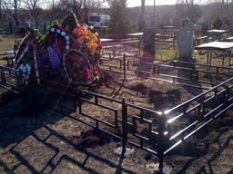 Оградка на кладбище установка ремонт реставрация генератор