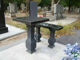 Ограды и стол скамейка для памятников - фото 3