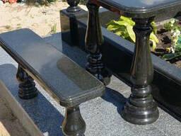 Ограды и стол скамейка для памятников - фото 4