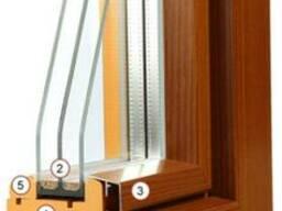 Окна деревянные, три стекла двухкамерные. Брус 80*80 сосна