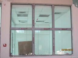 Окно противопожарное алюминиевое EI 30