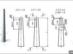 Опора железобетонная для линий электропередач УСТ-3А купить