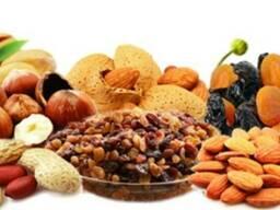 Орехи, сухофрукты, цукаты, сырье для кондитерских цехов