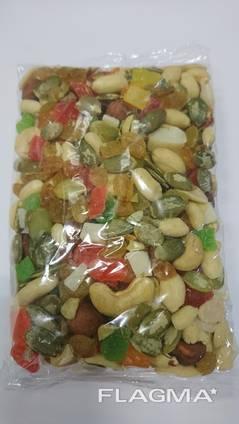 Ореховое ассорти с цукатами. Упаковка. 0,250гр.