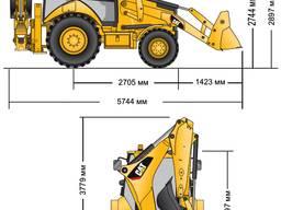Оренда екскаватора-навантажувача CAT 428 (екскаватор-погружчик)