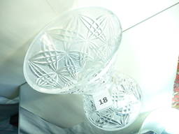 Оригинальная хрустальная коническая ваза для конфет, печенья