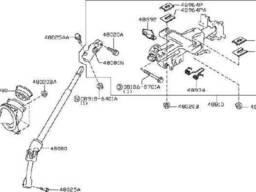 48810ZZ80A, 48810-ZZ71A Оригінальна колонка рульова для Nissan Frontier | Pathfinder |. ..