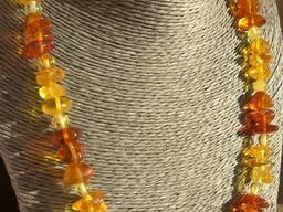 Оригинальные янтарные ожерелья, бусы из натурального янтаря