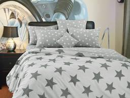 Орион, постельное белье серые звезды перкаль, 100% хлопок