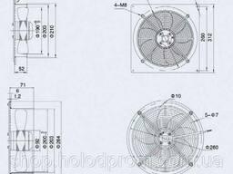 Осевой вентилятор Weiguang 2E 200-B-92/15-B (Металлическая пластина)