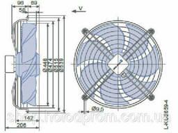 Осевой вентилятор Ziehl-Abegg FN045-SDK. 4F. V7P1