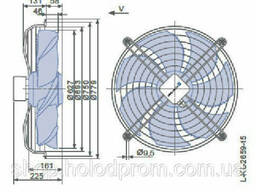 Осевой вентилятор Ziehl-Abegg FN063-ADK. 4I. V7P1