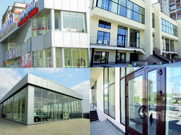 Светопрозрачные фасады, окна и двери