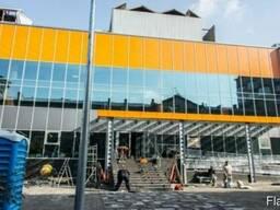 Остекление фасадов, изготовление ограждений из стекла