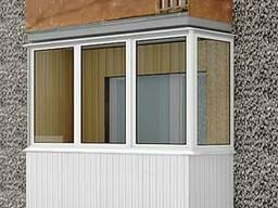 Остекление Г-образного балкона, балкон в рассрочку