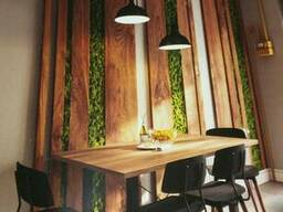 Отделка деревом стен и потолка. Декоративные балки, планки.