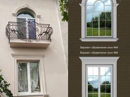Отделка окон на фасаде, фасадный декор - 15% скидка