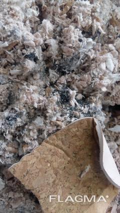 Отходы швейного производства - обрезки дублированной ткани