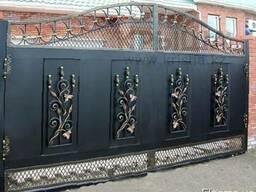 Откатние промишленные секционные ролетнные ворота
