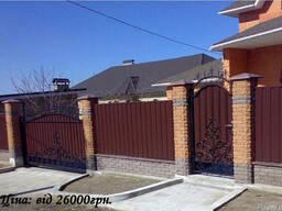 Откатные, распашные и гаражные ворота.