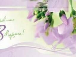 Открытки к 8 марта. Нанесение поздравлений на открытку или к