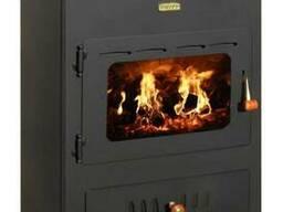 Отопительная печь на дровах с водяным контуром Prity K1 W8