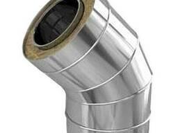 Отвод 45*нерж. 0,5/0,5 мм, Ф 100/200 мм. дымоход с тепл