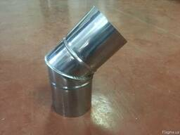Отвод 45*нерж. 0, 8 мм, диаметр 100мм. дымоход