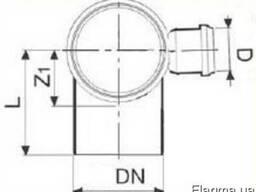 Отвод 90° ПП и ПВХ с правым выходом для внутренней канализац - фото 2