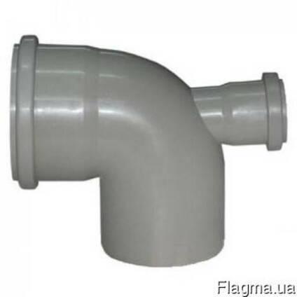 Отвод 90° ПП и ПВХ с прямым выходом для внутренней канализац