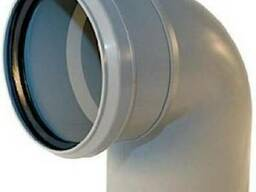 Отвод ПВХ для внутренней канализации д 32. Колено для внутре