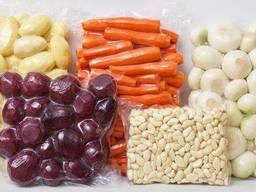 Овочі в вакуумній упаковці картопля, морква, буряк, капуста, цибуля