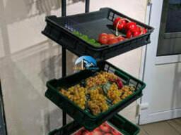 Овощной стеллаж компактный со съемной верхней корзиной
