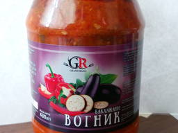 Овощные закуски (рататуй, огонек)