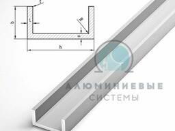 П образный алюминиевый профиль (швелер)