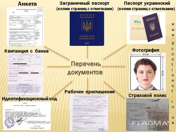 Пакет документов для Польской рабочей визы D05 180/360