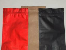 "Пакет Дой-пак цветной 300х400 (3000г. кофе) ""Крафт""+ мет. .."