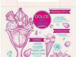 Пакет майка полиэтиленовая (тип FA) 320(2*80)*550/0. 013 Cream Леоми (100 шт)
