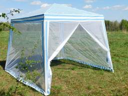 Палатка c москитной сеткой павильон садовый шатер 3/3 м