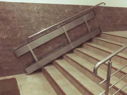 Пандус для инвалидов откидной на лестницу, для колясок, пандус на ступени