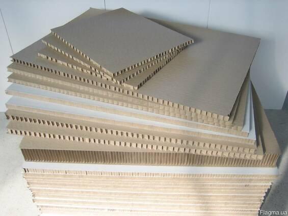 Панели картонные сотовые для перегородок